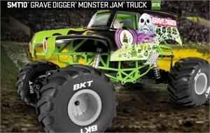 SMT10 Grave Digger Monster Jam Truck 1/10th Scale Electric - AX90055-radio-controlled-cars-and-trucks-Hobbycorner