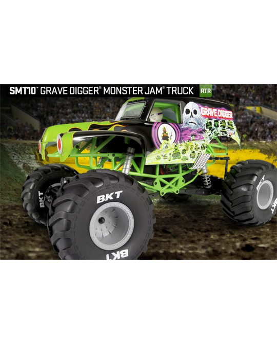 SMT10 Grave Digger Monster Jam Truck 1/10th Scale Electric ...