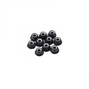 M6 Hex Flange Locknuts 10pack - Black -nuts,-bolts,-screws-and-washers-Hobbycorner