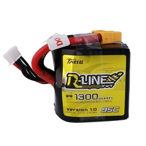 1300Mah - 14.8v - 4S - 95C - Square lipo battery pack-batteries,-chargers-and-testers-Hobbycorner