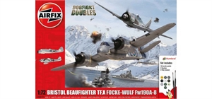 1:72 Bristol Beaufighter Mk.X Focke-Wulf Fw190 - 8 Dogfight Doubles Set-model-kits-Hobbycorner