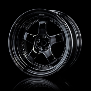 Silver Black SP1 Wheel+5mm 4 pack-tires-and-rims-Hobbycorner