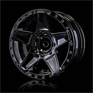Silver black 648 wheel +5mm 4pk-tires-and-rims-Hobbycorner