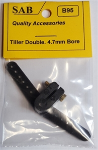 Tiller Arm - Double - 3/16 4.7mm Shaft-radio-controlled-boats-Hobbycorner