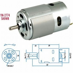 Standard (High Power) D.C. Motors 18800 - YM2774-electric-motors-and-components-Hobbycorner