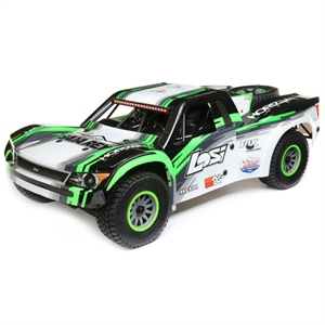 Super Baja Rey - 1/6 4wd RTR Black/Green - LOS05013T1-radio-controlled-cars-and-trucks-Hobbycorner
