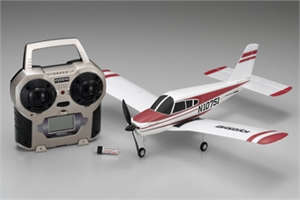 Minium Piper Cherokee (Red) - KYO 10751RS-R-radio-controlled-planes-and-gliders-Hobbycorner