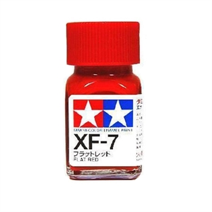 XF7 Enamel Flat Red - 8107-paints-and-accessories-Hobbycorner