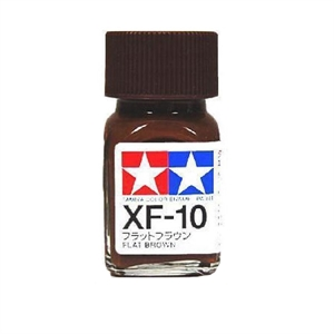 XF10 Enamel Flat Brown - 8110-paints-and-accessories-Hobbycorner