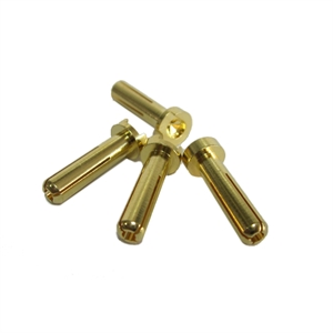 4mm Gold Bullet Connector low profile Male 2pcs-electric-motors-and-components-Hobbycorner