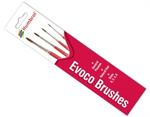 Evoco Brush Pack - Size 0/2/4/6-paints-and-accessories-Hobbycorner