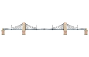 Grand Suspension Bridge Kit - R8008-trains-Hobbycorner