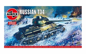 Airfix Vintage Classics - 1/76 Russian T34 Medium Tank-model-kits-Hobbycorner