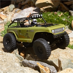 1-24 SCX24 Deadbolt 4WD Rock Crawler Brushed RTR (Green)-radio-controlled-cars-and-trucks-Hobbycorner