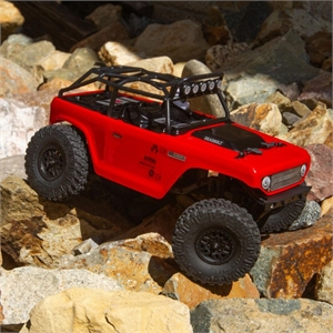 1-24 SCX24 Deadbolt 4WD Rock Crawler Brushed RTR (Red)-radio-controlled-cars-and-trucks-Hobbycorner