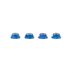 M5 Blue Aluminum Low Profile Lock Nut (set of 4 CW)-nuts,-bolts,-screws-and-washers-Hobbycorner