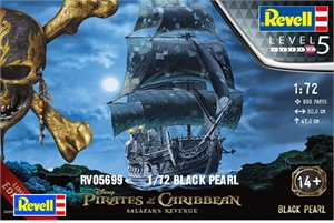 Black Pearl Pirate Ship - 1/72 - RV05699-model-kits-Hobbycorner