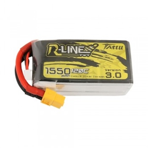 R-Line Version 3.0 1550mAh 14.8V 4S1P 120C Lipo with XT60 Plug-batteries,-chargers-and-testers-Hobbycorner