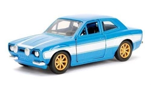 JADA Fast & Furious Brian's Ford Escort RS2000 Car 1/32 Die Cast Blue - JA97188-dicast-models-Hobbycorner