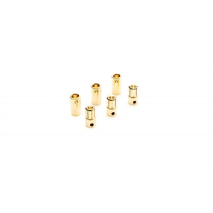 Gold Bullet Connector Set - 6.5mm - (3) - DYNC0091-batteries,-chargers-and-testers-Hobbycorner
