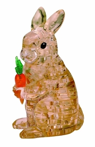 Crystal Puzzle Brown Rabbit-model-kits-Hobbycorner