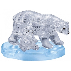 Crystal Puzzle - Polar Bear Clear-model-kits-Hobbycorner