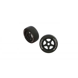 DBoots Hoons 42/100 2.9 Belted Tyre on 5-Spoke Wheel 17mm Hex - 550062-tires-and-rims-Hobbycorner