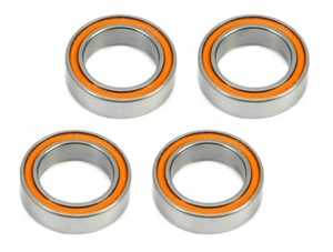 Bearings - 12x18x4mm Rubber sealed Orange (4 pcs) - 151218R-rc---cars-and-trucks-Hobbycorner