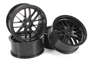 "1/10 Drift - 2.2"" - 8 Spoke Wheels - 12mm Hex - Black (4 pcs) - 503331BK-wheels-and-tires-Hobbycorner"