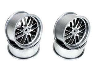 "1/10 Drift - 2.2"" - 8 Spoke Wheels - 12mm Hex - Fog Silver (4 pcs) - 503331FS-wheels-and-tires-Hobbycorner"