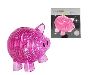 Pink Piggy Bank - 5833-model-kits-Hobbycorner