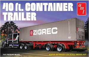 1/25 40ft Container Trailer - 1196-model-kits-Hobbycorner