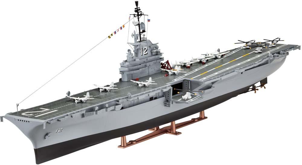 1/530 U S S  Hornet (CVS- 12) Plastic Model Kit - RV05121