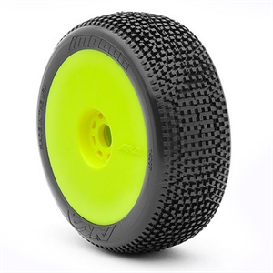 1:8 Buggy -  Impact -  Soft -  Evo Wheel -  Pre- Mounted Yellow -  14007SRY-tires-and-rims-Hobbycorner