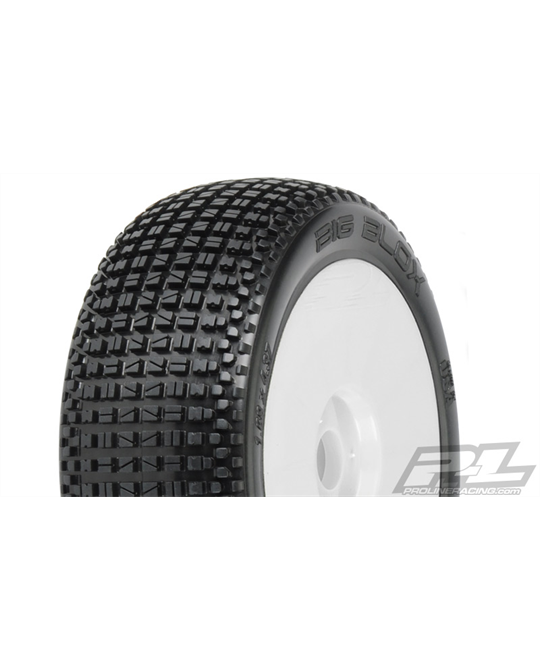 Big Blox X2 (Medium) Off- Road 1:8 Buggy Tires Mounted - 9048- 032