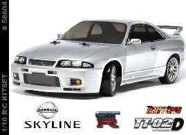 Nissan Skyline GT- R R33 TT- 02D Chassis -  58604-radio-controlled-cars-and-trucks-Hobbycorner
