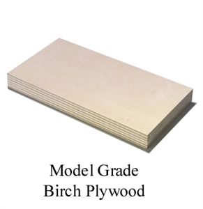 "PLY -  Birch -  12x48"" -  1/32"" (.8mm) -  7.5481-building-materials-Hobbycorner"