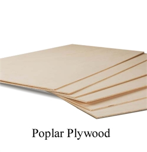 "PLY -  Poplar -  12x24"" -  1/8"" (3mm) -  7.553-building-materials-Hobbycorner"
