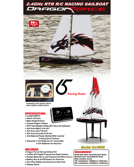 Dragon Force RTR 2 4GHZ Yacht - J8805